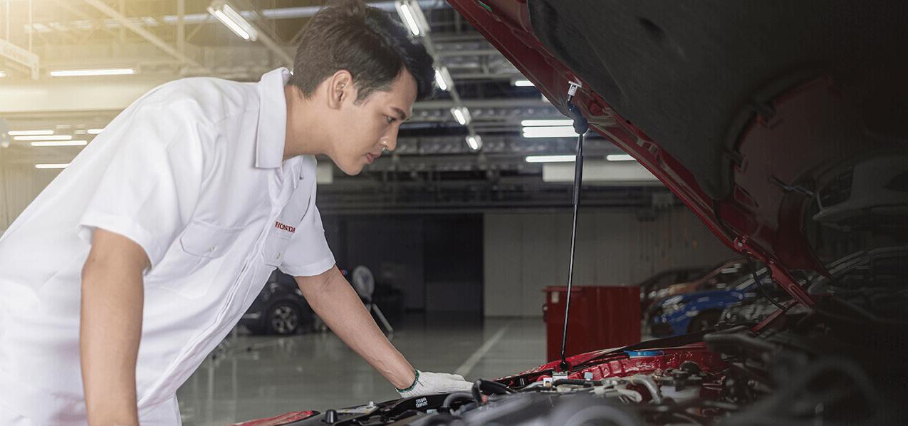 การรับบริการเปลี่ยนอะไหล่รถยนต์ฮอนด้ากับ Vgroup Honda